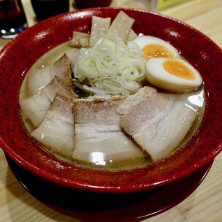 塩ラーメン+チャーシュー+味玉(札幌ラーメン みそ吟 長居公園店)