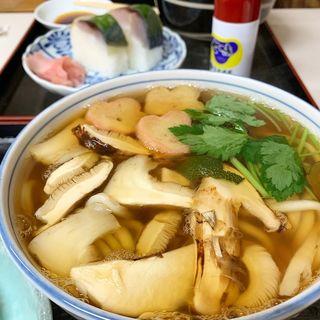松茸うどんセット(満寿形屋 (ますがたや))