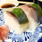 セットメニューの鯖寿司