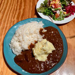 カレー サラダセット +マッシュポテト
