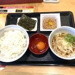 納豆定食+冷小うどん変更