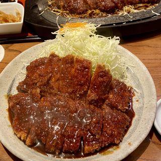 【名物】わらじとんかつ定食(矢場とん 東京銀座店 (やばとん))
