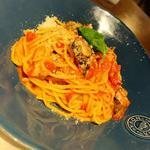 揚げナスとベーコンのシラチャータ(Italian kitchen VANSAN 香椎店)
