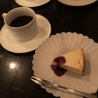 百景ブレンド(深煎り),バスク風チーズケーキ
