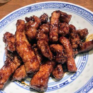 豚ロースの甘い黒酢炒め