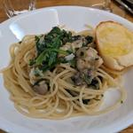 超こだわり塩味!牡蠣とホウレン草のペペロンチーニスパゲッティ