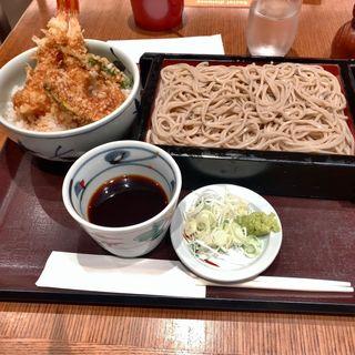 海老天丼蕎麦セット