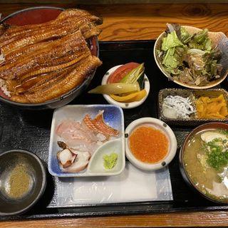 うな丼&刺身4種定食(はなたれ 人形町店 )