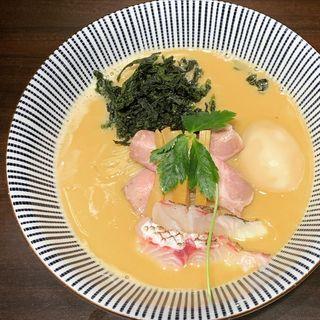 真鯛白湯そば+味玉