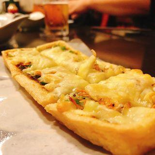 油揚げピザ(きわだち)