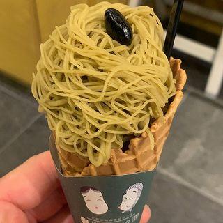 ほうじ茶モンブランソフト(宇治園 心斎橋本店 )