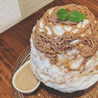 モンブランミルククリーム(南アルプス天然氷 ふわりひめ)