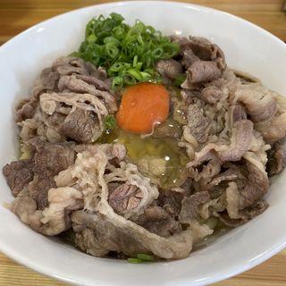 牛肉釜玉(桐麺 )