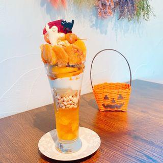 ハロウィン柿パフェ(and F CAFE )