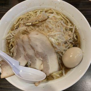 にぼ(大盛り100g+煮卵)