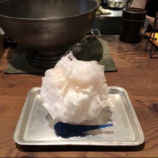 白桃ミルクのかき氷(mimet)