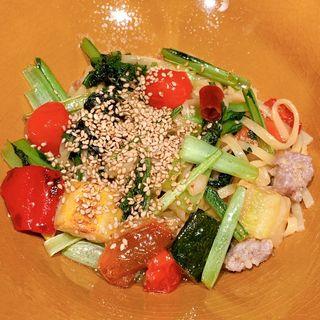 季節野菜のペペロンチーノ