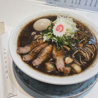 加里ラーメン+味玉アローカナ(上方レインボー)