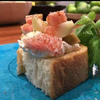 イチジクとクリームチーズ(野菜酒場あしおと)