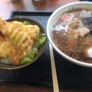 ラーメン+鳥天丼