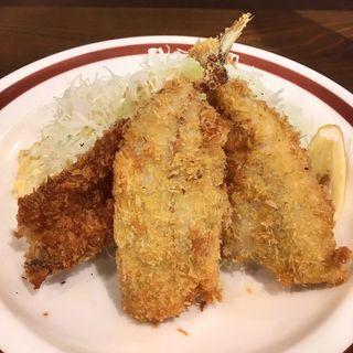 活アジフライ定食(アジフライセンター おむこさん)