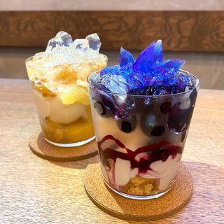 青の水晶パフェ(ウサギノネドコ 京都店  )