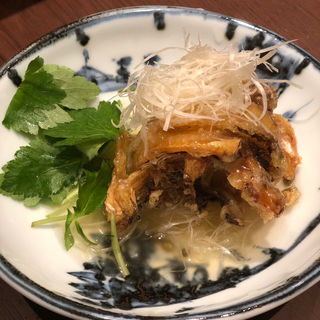 太刀魚の唐揚げ(神楽坂九頭龍蕎麦 msb Tamachi)