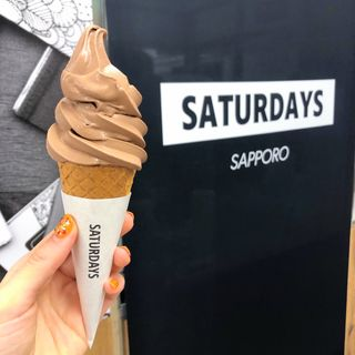 Wチョコレート・ソフトクリーム(サタデイズ チョコレート ファクトリー カフェ (Saturdays Chocolate Factory Cafe))