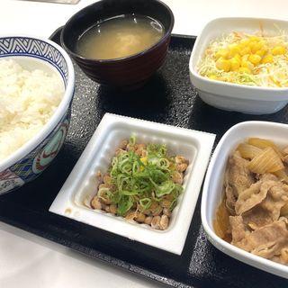 納豆牛小鉢定食(吉野家 札幌狸小路店)