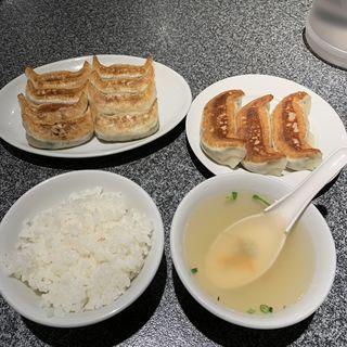 元祖餃子8個&黒豚餃子3個&小ライス