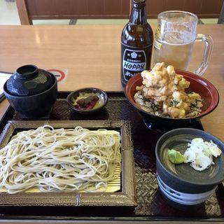 十割蕎麦セット(麒麟亭 (よみうりランド丘の湯施設内) )