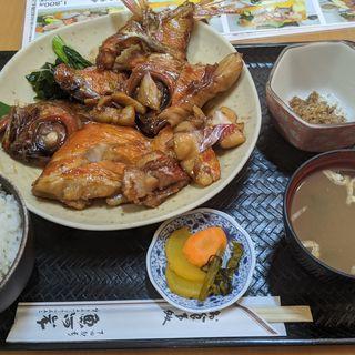 金目煮付定食(魚河岸 (うおがし))