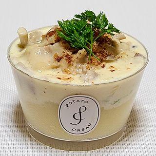 白菜と豚肉の4種のチーズソースポテトクリーム