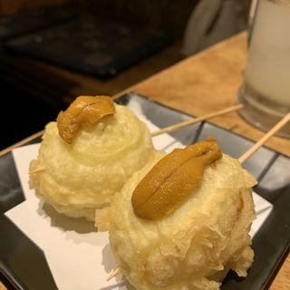 玉子ウニのせ串(道玄坂 漁)