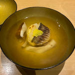 カマスの真丈と松茸のおわん