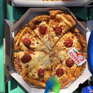 濃厚クリームチーズピザ