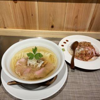 塩そば+肉丼セット(成城青果)