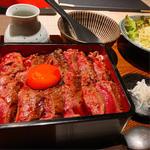 熟成イチボ肉のたたきステーキ重〜ひつまぶし〜