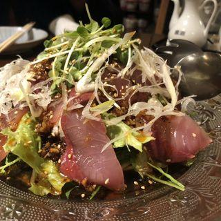 ハマチの中華式サラダ