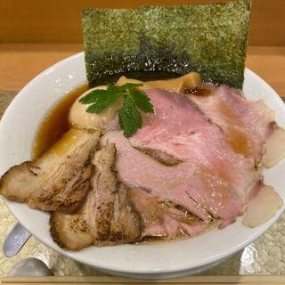 地鶏醤油らーめん 特製(なにわ麺次郎)