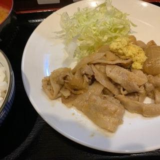 生姜焼き定食(みそダレ)(笑姜や)