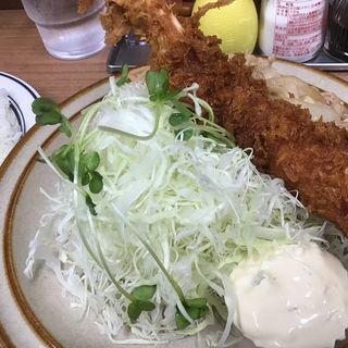 エビフライ生姜焼きセット(キッチン南海 神保町店)