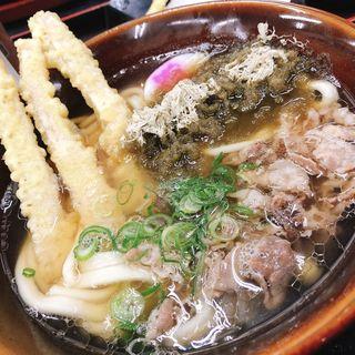 肉ごぼう天うどん(資さんうどん 魚町店)