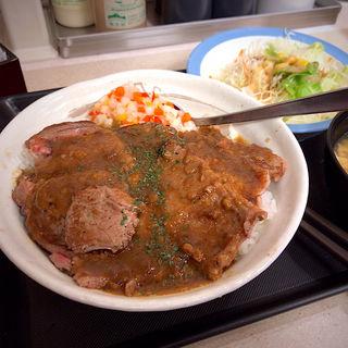 牛ステーキ丼 生野菜セット