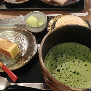 抹茶セット(舟和 本店 (ふなわ))