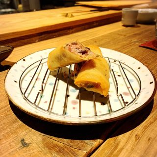 梅山豚と茸、餅の春巻き(創和堂-sowado-)