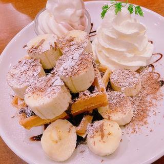 バナナチョコワッフル