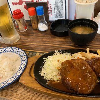 ビフテキ&ハンバーグ定食(グリル異人館 )