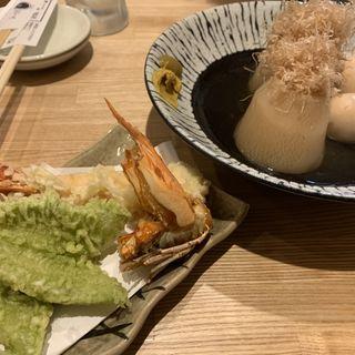 おでんと天ぷら(天ぷら・鮮魚酒処 へそ京都店)