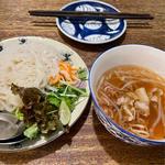 焼き豚肉のつけ麺フォー